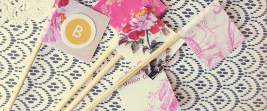 so adorable! personalized DIY BBQ Skewers