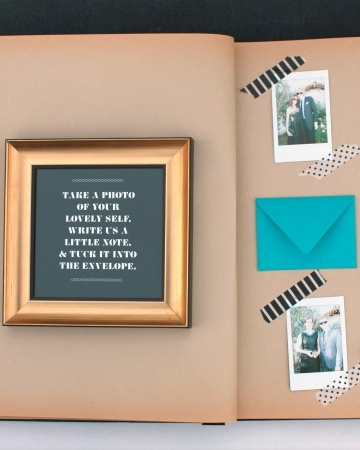 Photo guestbook idea- photo book time!