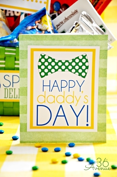 Prettpy yellow and green Fathers Day free printables