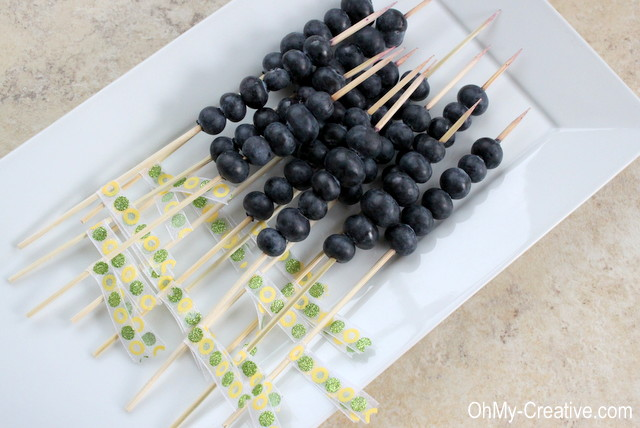 DIY Ribbon tied summer BBQ skewers