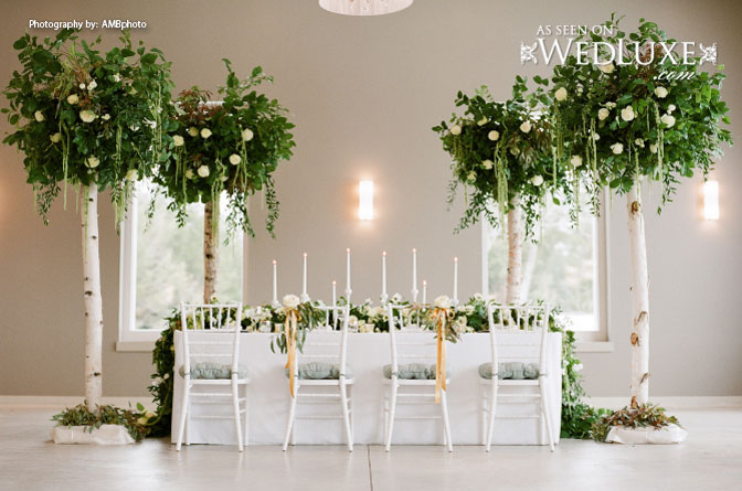 romantic garden tablscape. Amazing way to bring the outdoors in!