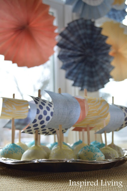 Sailboat cake pops!