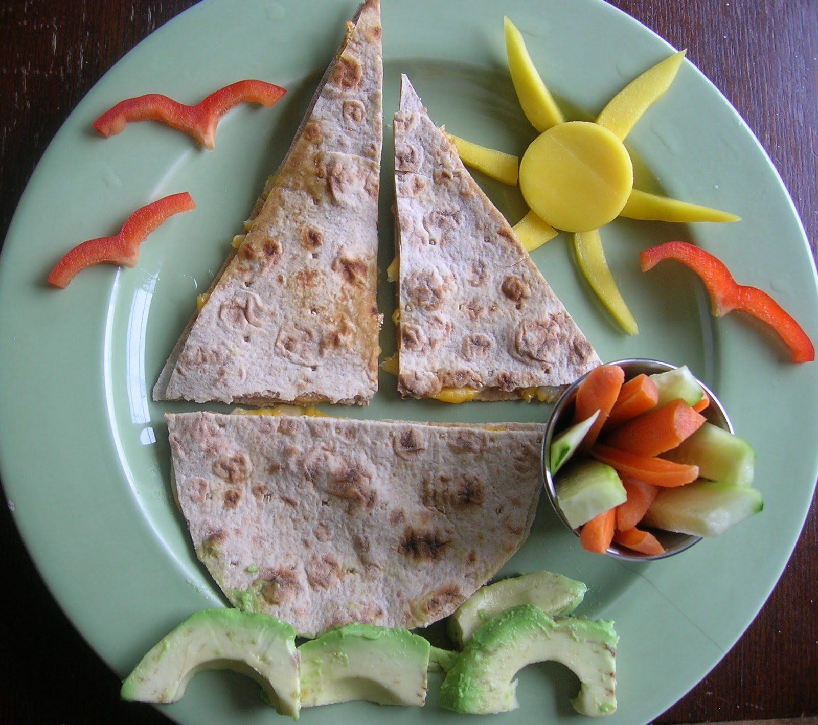 Sailboat Quesadillas for a pool and beach party