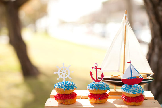 sailboat treats with adorable toppers