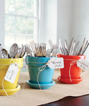 Silverware containers for summer bbq