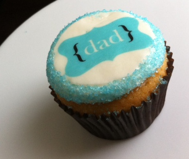 So cute! Baby Blue Fathers Day Cupcake