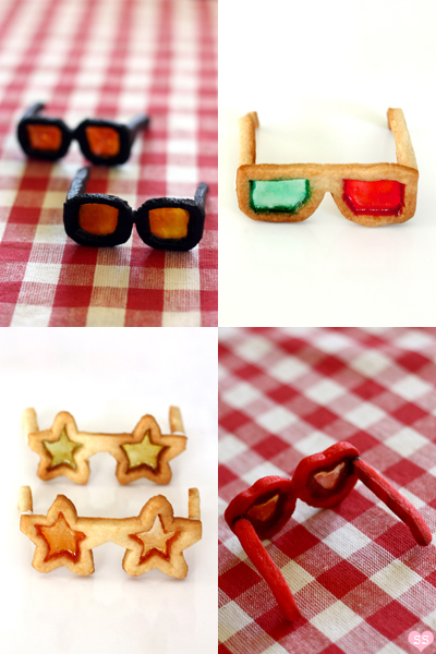 stained glass sunglasses cookies-amazing for a pool and beach party