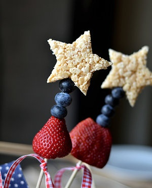 Star rice crispy treats for 4th of July