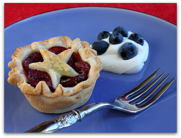 Star topped cherry pies for 4th of July