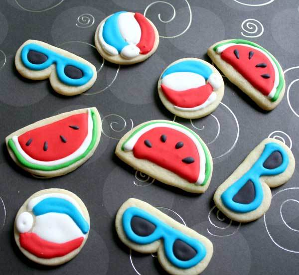 summer sunglasses cookies. Love these minis!