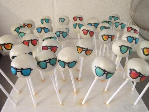 sunglasses cake pops-love these!