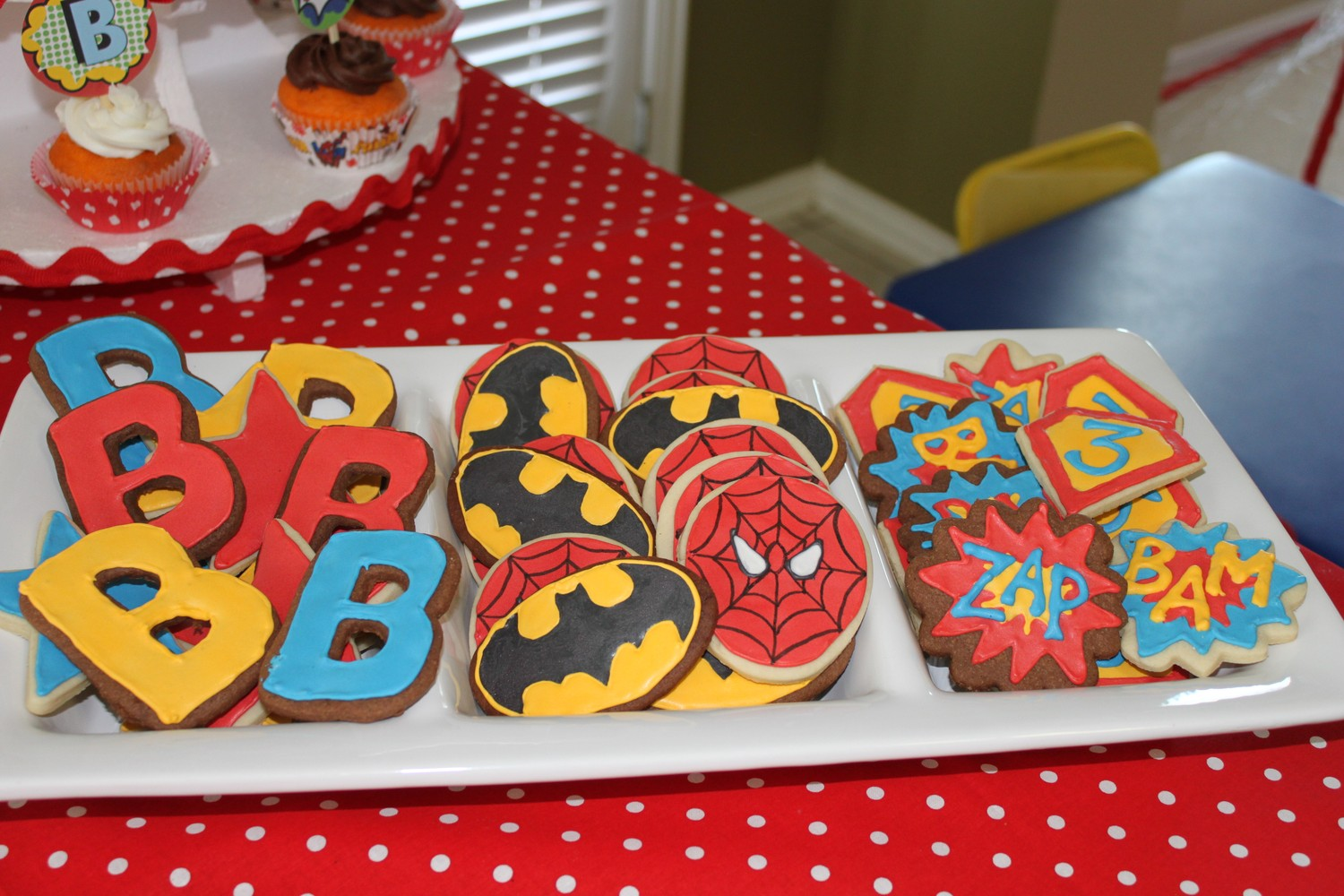Superhero cookies for a super dad on father's day
