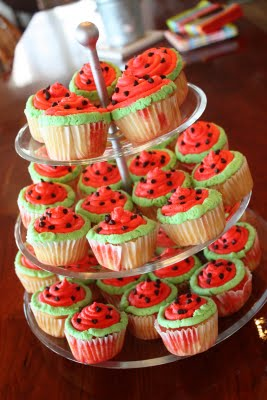 watermelon cupcakes for summer bbq