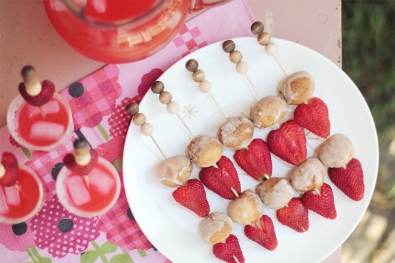 wood bead DIY skewers for summer bbq