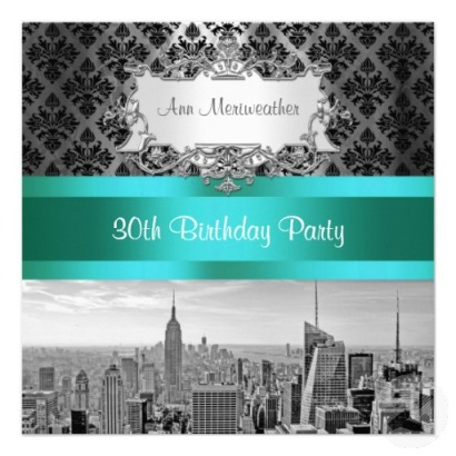 30th birthday party New york city invitation