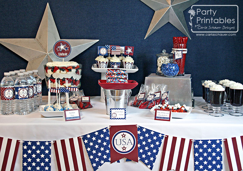 4th of July bright party table