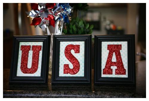4th of July easy DIY USA decor