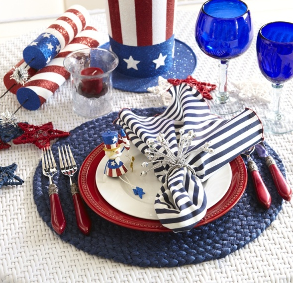4th of July fun place setting