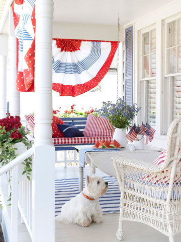 4th of July outdoor decor