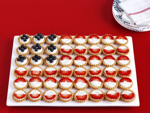 4th of July Patriotic tart flag