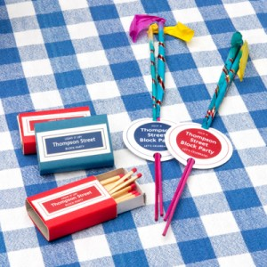 4th of July sparkler favors