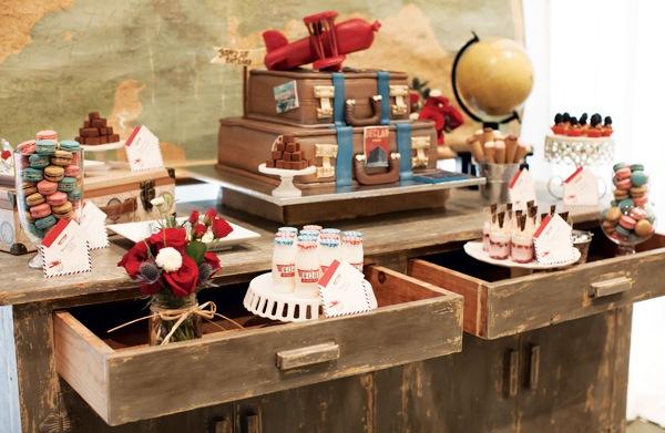 Around the world vintage themed birthday