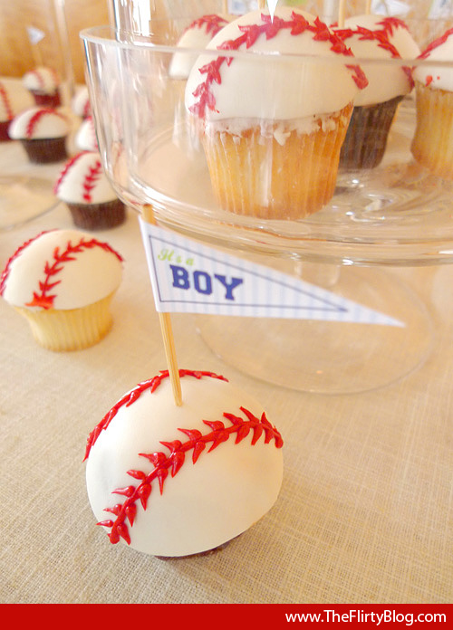 on the flirty guide just a perfect baseball baby shower dessert