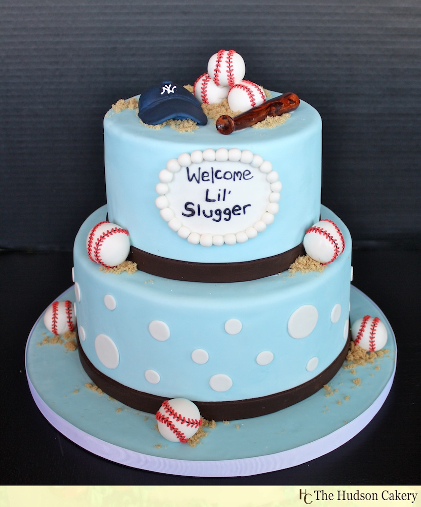Boys Baby Shower Cake: For The Lil' Slugger {Baseball Baby Shower!}