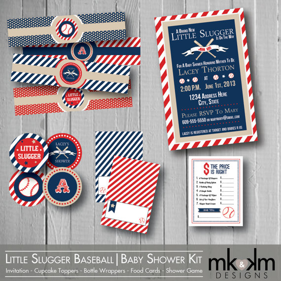 Baseball Baby Shower Printables