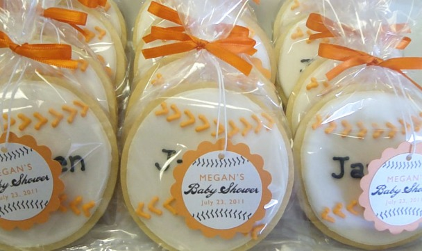 Baseball Baby Shower cookieTags