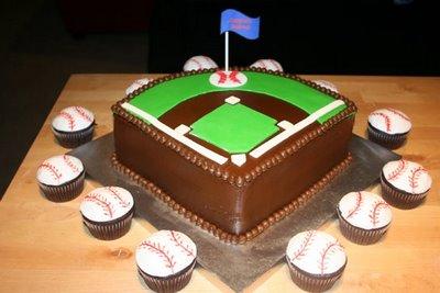 Baseball diamond cake!