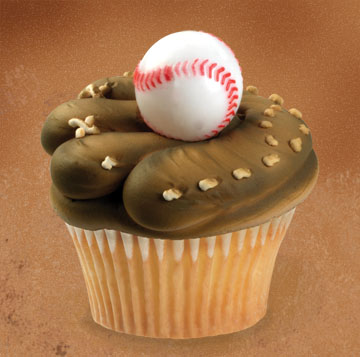 Baseball Mitt and Ball cupcake-seriously love this!