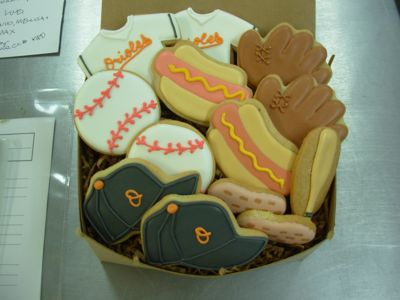 Baseball Party Concession Cookies