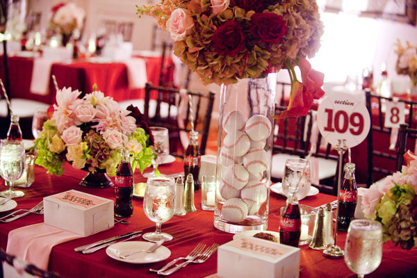 elegant baseball party table
