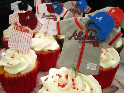Baseball Team Jersey Cupcakes