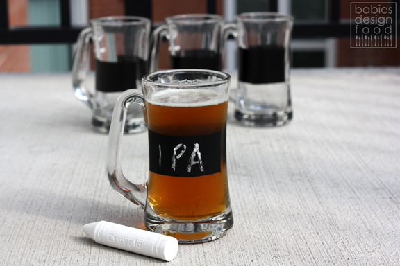 Chalkboard beer mugs for house get togethers