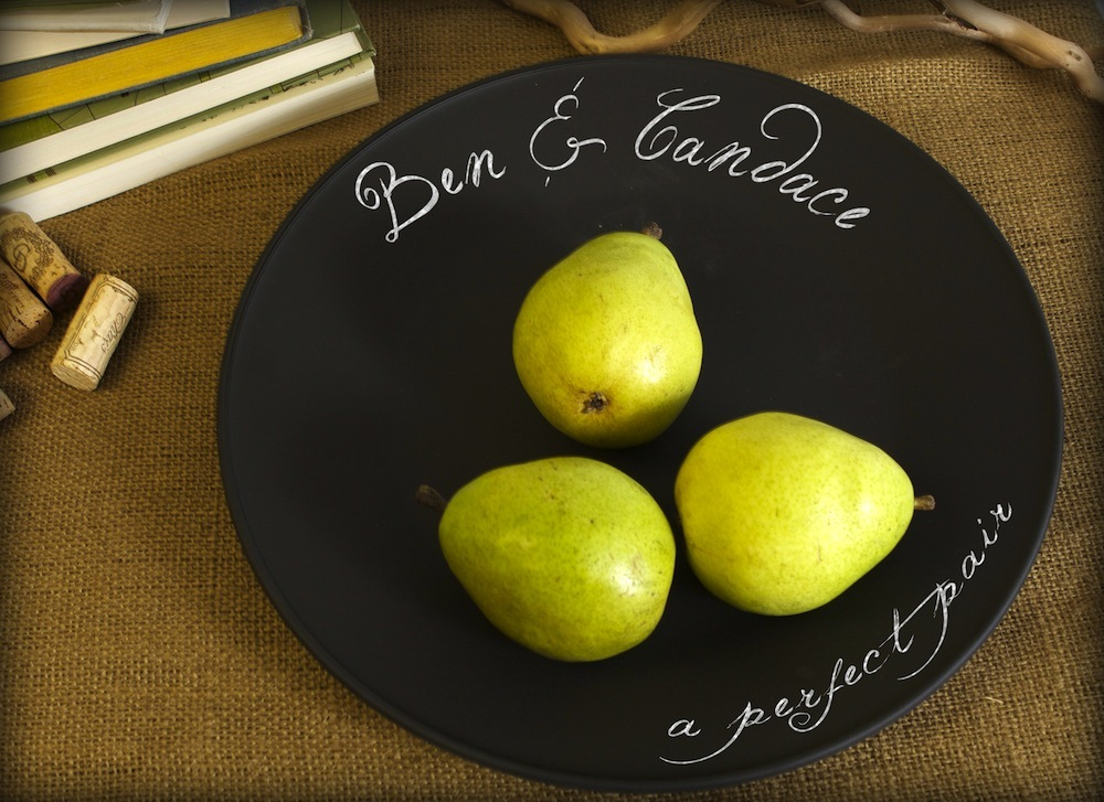 Chalkboard charger plate for dinner parties and get togethers