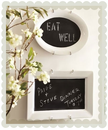 Chalkboard plates-amazing for a dinner party