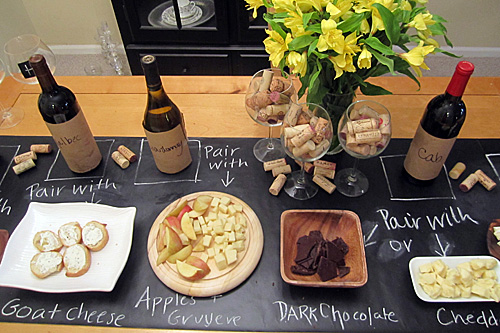 Chalkboard runner-great for a wine and cheese party or even dinner party!