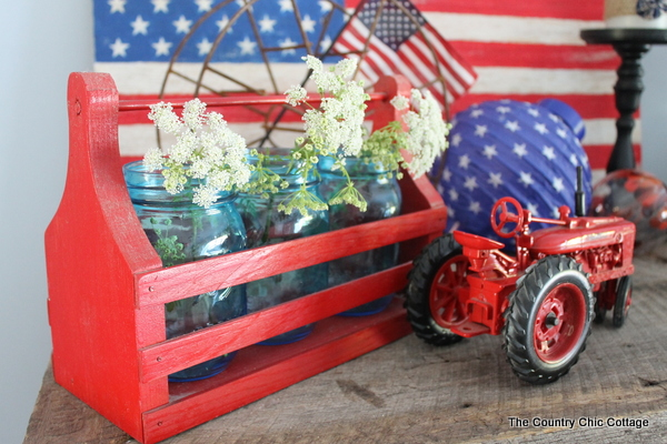 Country patriotic 4th of July home decor
