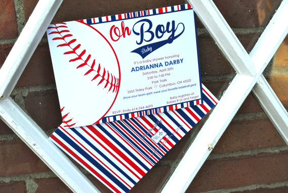 cutest baseball baby shower invitation!