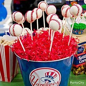 DIY Baseball Cake Pops