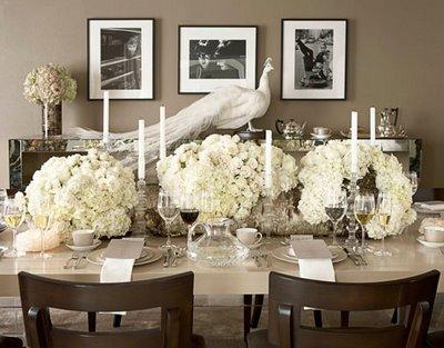 elegant vintage silver white tablescape