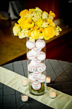 These Baseball Centerpieces Are A Home Run B Lovely Events