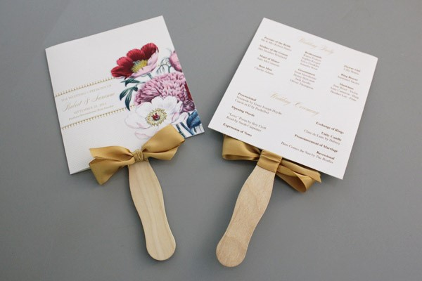 A round up of free wedding fan programs b lovely events for Diy wedding program fan template