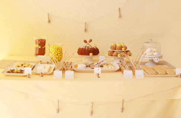 Honey and bee themed house warming party