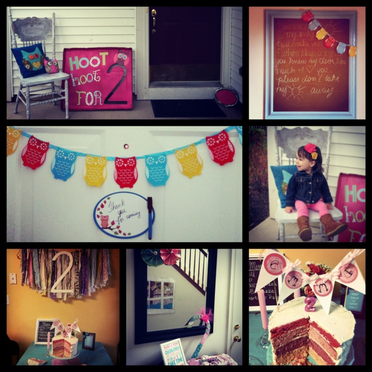 hoot hoot for 2, an owl themed birthday party