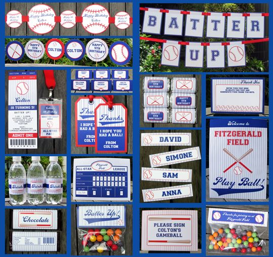Huge Amazing Baseball Party Printable Set