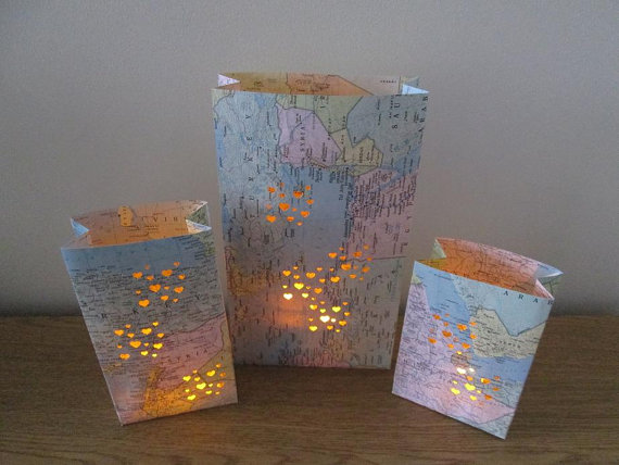Map Luminary Centerpiece on Etsy!