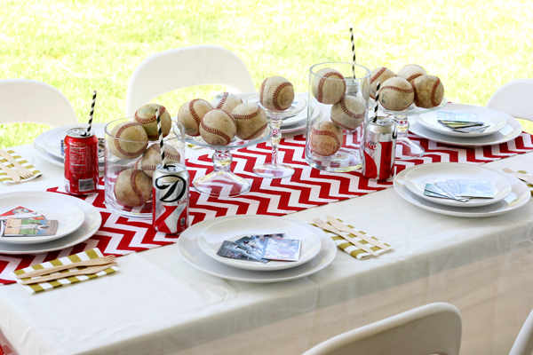 modern chevron baseball party